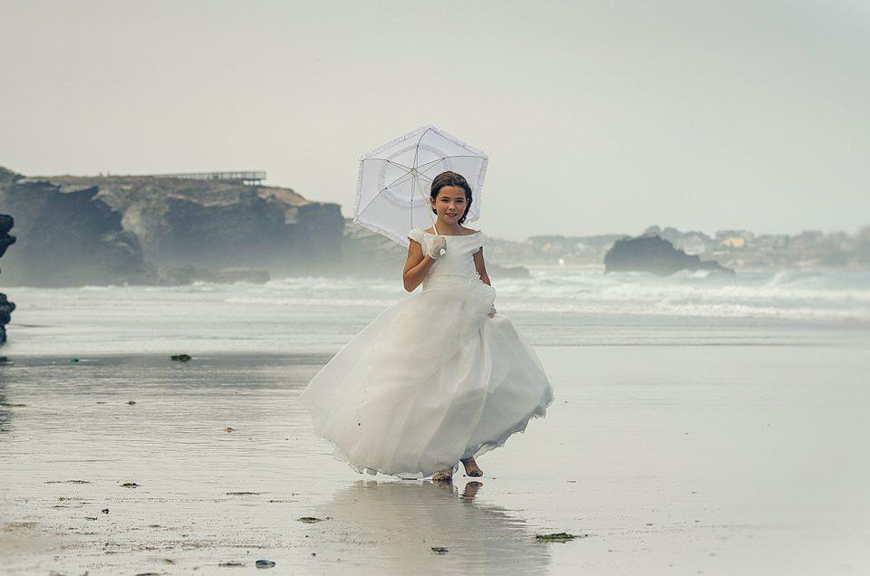 fotógrafo fotografía reportaje sesión comunión playa Lugo Galicia